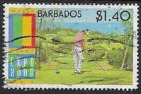 Barbados 2000 USA Golf SG 1173 Fine Used