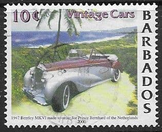 Barbados 2000 Vintage Cars SG 1175 Fine Used