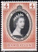 Barbados Queen Elizabeth II 1953 Coronation Fine Mint