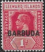 Barbuda 1922 Leeward Island Overprints SG 2 Good Used