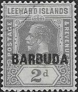 Barbuda 1922 Leeward Island Overprints SG 3 Fine Used