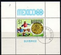 Barbuda 1968 Mexico Olympics Miniature Sheet Fine Used