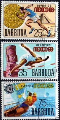 Barbuda 1968 Mexico Olympics Set Fine Used