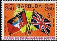 Barbuda 1977 Royal Visit 1st Issue SG 347 Fine Mint