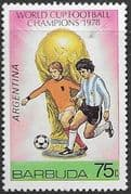 Barbuda 1978 World Cup Champions SG 442 Fine Mint