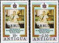 Barbuda 1980 Mothers Queen 80th Birthday Set Fine Mint