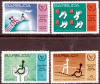 Barbuda 1981 International Year of Disabled Persons Set Fine Mint