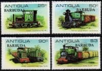 Barbuda 1981 Sugar Cane Railway Locomotives Set  Fine Mint