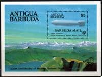 Barbuda 1983 Manned Flight Miniature Sheet Fine Mint