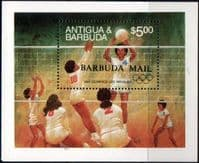 Barbuda 1984 Olympic Games Miniature Sheet Fine Mint