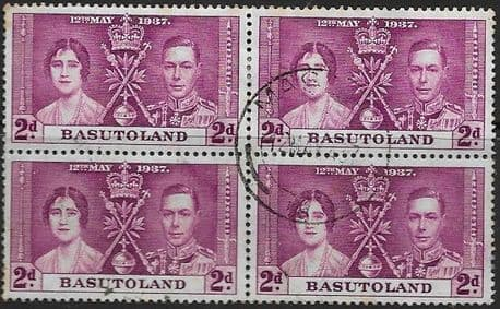 Postage Stamps Basutoland 1937 SG 15 King George VI Coronation Fine Used Scott
