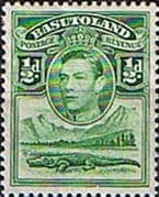 Basutoland 1938 SG  18 King George VI and Crocodile Fine Mint