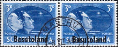African Stamps Basutoland 1946 King George VI Victory SG 31 Fine Used Scott