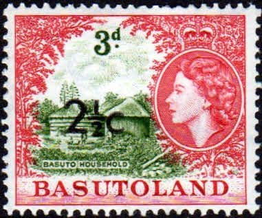 Stamps Basutoland 1961 Queen Elizabeth Household Fine Mint SG 61 Scott 64