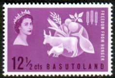 Stamps Basutoland 1963 Freedom From Hunger Fine Mint