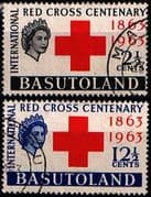 Basutoland 1963 Red Cross Centenary Set Fine Used
