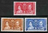 Bechuanaland 1937 King George VI Coronation Set Fine Mint