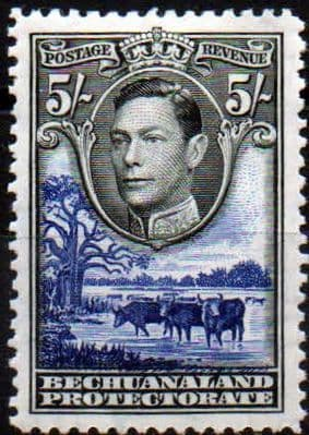 Postage Stamps Bechuanaland 1938 SG 125 Kings Head Fine Mint SG Scott 124 Other Africa Stamps HERE