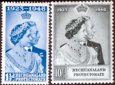 Bechuanaland Stamps 1948 King George VI Royal Silver Wedding