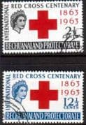 Bechuanaland 1963 Red Cross Centenary Set Fine Used