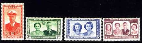 Bechuanaland Stamps 1947 Royal Visit Fine Mint