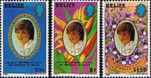 Stamps Stamp 1982 Beliez Diana 21st Birthday Set Fine Mint
