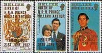 Belize 1982 Royal Baby Prince William Large Set 2nd Issue Fine Mint