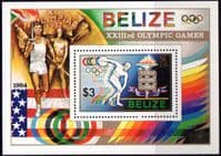 Belize 1984 Olympic Games Miniature Sheet Fine Mint