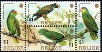 Belize 1984 Parrots Set Fine Mint