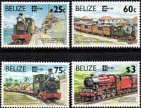 Belize 1995 CAPEX Railways Set Fine Mint
