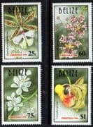 Belize 1996 Christmas. Orchids Set Fine Mint
