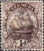 Bermuda 1910 King George V Galleon SG 44a Fine Used