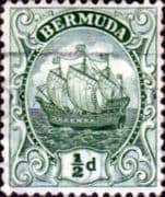 Bermuda 1910 King George V Galleon SG 45 Fine Used