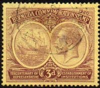 Bermuda 1920 King George V Institutions Tercentenary SG 62 Fine Used