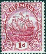 Bermuda 1922 King George V Galleon SG 79 Fine Mint
