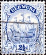 Bermuda 1922 King George V Galleon SG 82b Fine Used