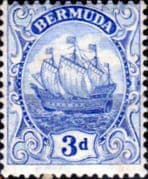 Bermuda 1922 King George V Galleon SG 83 Fine Mint