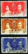 Bermuda 1937 King George VI Coronation Set Fine Used