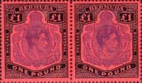 Bermuda 1938 King George VI SG 121d Horizontal Pair Fine Mint