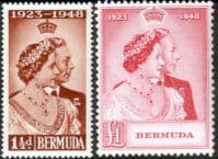 Bermuda 1948 King George VI Royal Silver Wedding Set Fine Mint