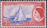 Bermuda 1953 Queen Elizabeth SG 138 Racing Dinghy Fine Mint