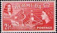 Bermuda 1953 Queen Elizabeth SG 139 Sir George Somers and Sea Venture Fine Mint