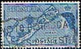 Bermuda 1953 Queen Elizabeth SG 145b Map Fine Used