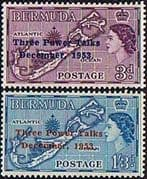 Bermuda 1953 Three Power Talks Set Fine Mint