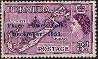 Bermuda 1953 Three Power Talks SG 152 Fine Mint