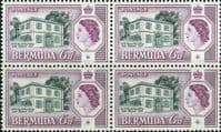 Bermuda 1958 Perots Post Office SG156  Fine Mint Block of 4