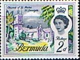 Bermuda 1962 SG 164 Church of St Peter Fine Mint