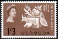 Bermuda 1963 Freedom From Hunger Fine Mint