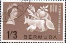 Bermuda 1963 Freedom From Hunger Fine Used