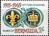 Bermuda 1965 Fifty Years Of Scouting Fine Mint
